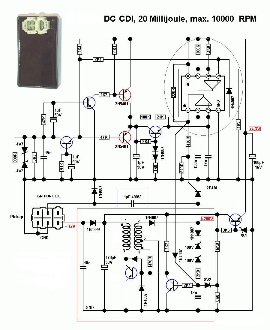 Gy6 Racing Cdi Wiring Diagram on chinese pit bike parts